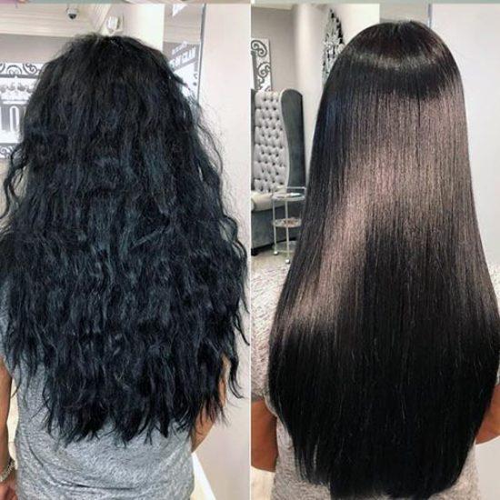 قبل و بعد از استفاده کراتین اینوار