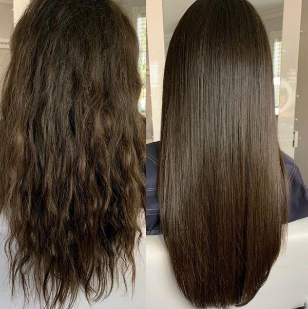 قبل و بعد از استفاده کراتین پرفکت لیس