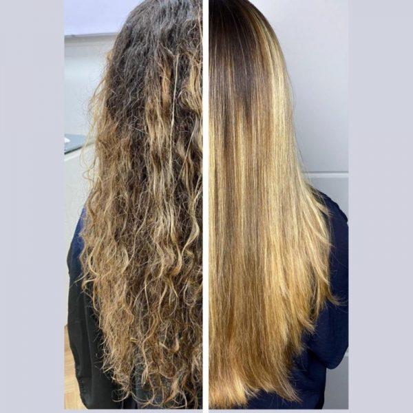 قبل و بعد استفاده پروتئین مو هونما